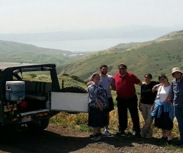 טיול ג'יפים בדרום הגולן